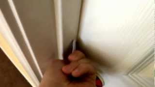 How to open a locked door with a card