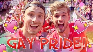 Op de YOUTUBE BOOT bij de GAY PRIDE! | Rutger & Thomas Vlog