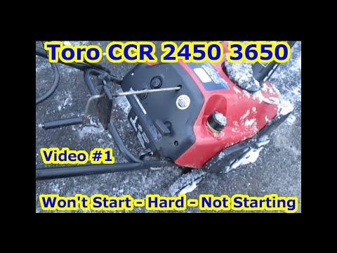 Toro CCR 2450 3650 Snow Blower - Won't Start, Hard, Not Starting - Oil - Gas Mixture Problem