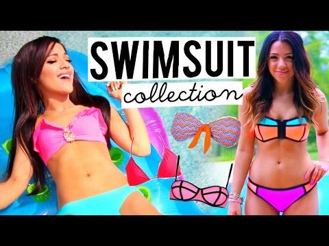 Swimsuit Collection 2015! Trying on Bikinis | Niki and Gabi