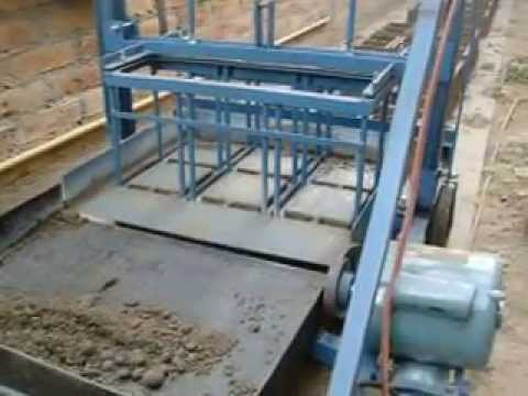 maquina bloquera ponedora manual en funcionamiento manual block machines