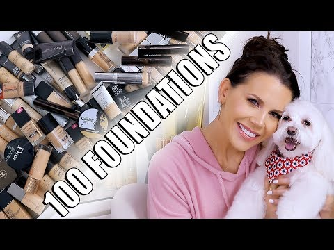 MAKEUP EDIT 90 of my FOUNDATIONS GONE