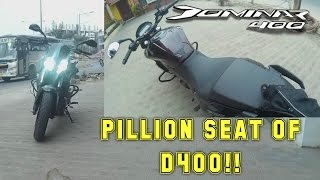 DOMINAR 400(ABS) | PILLION SEATING COMFORT | FACTS OF D400 - BANG2W