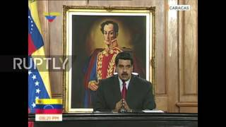 Venezuela: Maduro condemns