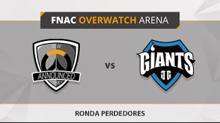 TBA vs. Giants Gaming - Partido 3 - Ronda de perdedores - FNAC Overwatch Arena