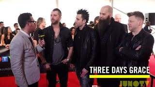 Three Days Grace on The 2016 JUNO Awards Red Carpet