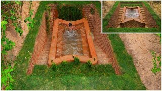 Build The Most Amazing Survival Secret Underground House And   Swimming Pool