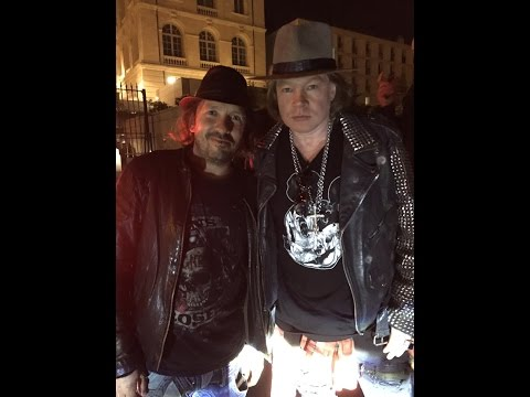 Axl Rose jokes about Bon Jovi with Fans in Marseille after AC/DC stade velodrome 13 05 2016