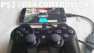 Samsung Galaxy S6 Gaming  With PS3 CONTROLLER