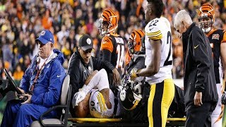 Ryan Shazier Carted Off Field taken to hospital with back injuries was removed from the field.