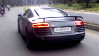 Audi R8 in Rourkela. The city's most expensive supercar