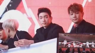 GOT7 Reaction to Apink Eternal Love @ MBC Gayo Daejun 2015 (151231)