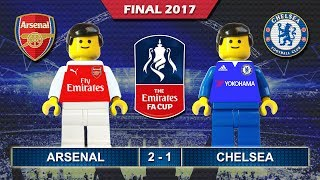 Emirates FA Cup Final 2017 • Arsenal vs Chelsea • goal highlights Lego Football film