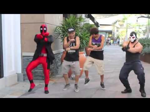 Deadpool vs Gangnam Style جنانجم ستايل الامريكيه