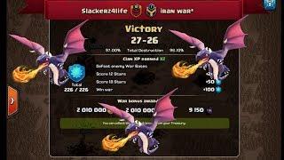 Clash of clans | War recap Slackerz4life vs Iran war | LAST SECOND HERO