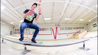 Can You JUGGLE WHILE SKATEBOARDING?!
