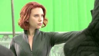 Black Widow on the Set of Marvel's AVENGERS