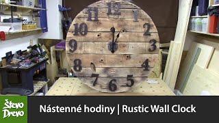 Nástenné hodiny | Rustic Wall Clock