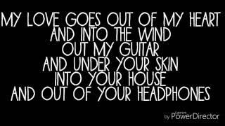 Lawson- Where my love goes- lyrics