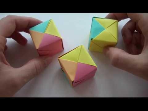 Как сделать Кубики оригами