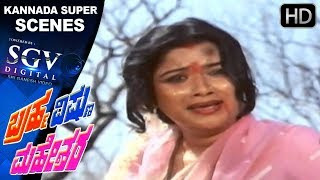 VIllain teases girl on road | Kannada Scenes | Bhrama Vishnu Maheshwara Kannada Movie | Ambarish