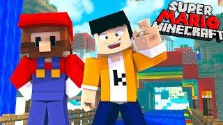 AMAZING SUPER MARIO MINECRAFT WORLD! | Minecraft PE Gameplay