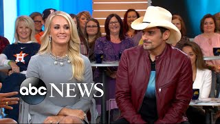 Brad Paisley and Carrie Underwood open up about the 2017 CMA Awards