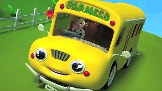 Колеса на автобусе | рифмуется учиться и петь | дошкольные песни для детей