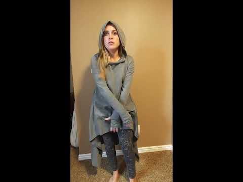 StyleDome Women Loose Irregular Long Tunic Hoodies