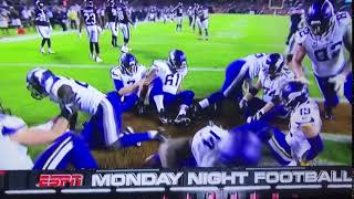 The Minnesota Vikings play Duck Duck Goose in the Endzone to kill time after a beautiful touchdown
