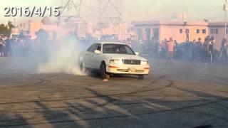 تفحيط سيارات خرافي البطه و BMW 735 النجف الاشرف 2016 4 15