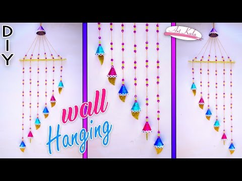 Download video best out of waste ideas from paper tube for Waste paper wall hanging