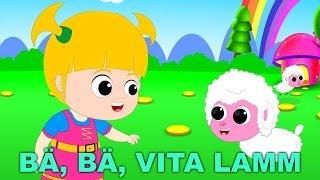 Bä Bä Vita Lamm | Barnvisor på svenska