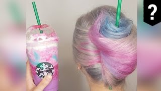 Humanity is doomed: The Unicorn Frappuccino is now a hairstyle - TomoNews