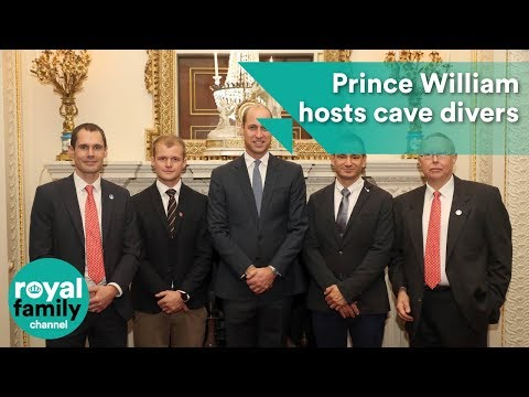 Xxx Mp4 Prince William Hosts Cave Divers Involved In Thai Rescue Ops 3gp Sex