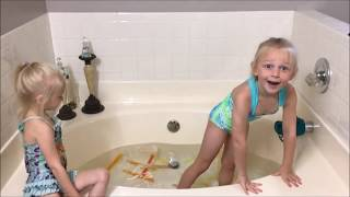 Extreme Ice Bath Challenge! With Popsicles! All 4 kids!