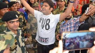 Kapil Sharma visits Wagah border with team, meets jawans to promote ' The Kapil Sharma show '