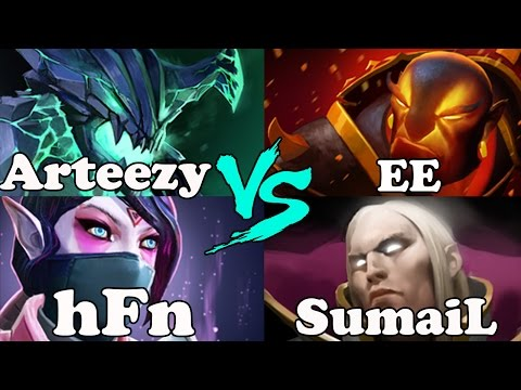Dota 2 - Arteezy And hFn VS SumaiL And EternaLEnVy - Ranked Match Gameplay!