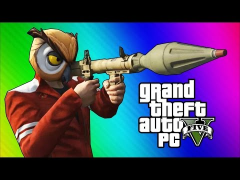 GTA 5 PC Online Funny Moments Action Replay Slow Motion Highway Stunt