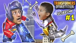 Lets Play TRANSFORMERS DEVASTATION #1: Commander Duddy on a Mission w/ Scare Cam! (FGTEEV Gameplay)