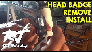 How To Remove/Install Bike Head Badge
