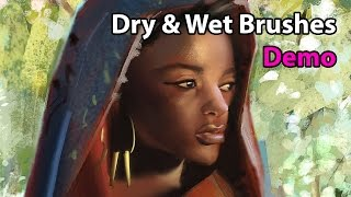 Dry and Wet Brushes in Photoshop - Demonstration | EP 009