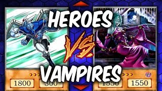 Yugioh! HEROES vs VAMPIRES (Yugioh Fun Decks)
