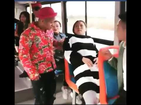 Funny video Girls cheating for seat in Bus.
