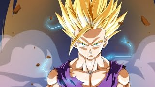 gohan turns ssj2 first time (japanese) english subbed