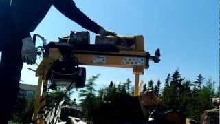 log splitter converted to semi auto (4 ton)