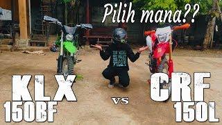 CRF 150L vs KLX 150BF // REVIEW & TEST RIDE