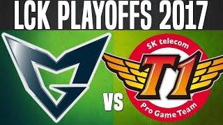 SSG vs SKT - Game 3 - LCK Summer Playoffs 2017 - Samsung Galaxy vs SKT T1 G3 LCK Playoffs 2017