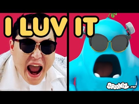 Funny Animated Cartoon | Spookiz x PSY I Luv It Music Video Parody | Cartoons for Children