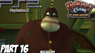 Ratchet and Clank: Up Your Arsenal Gameplay Walkthrough Part 16 - Qwark's Hideout - PS2 Lets Play